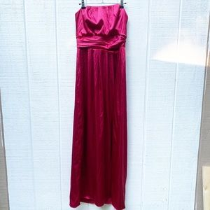 Dessy collection valentine red bridesmaid dress 8